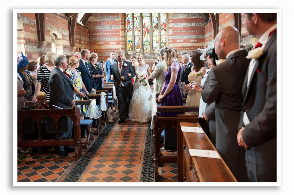 St Judes United Church Wedding Photo